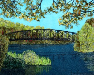 abandoned bridge, Northfield 9x12""