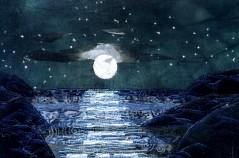 """Atlantic, full moon 9x12"""""""