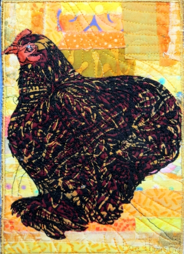 gold laced Wyandotte 5x7""