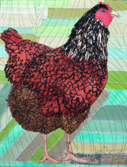 gold laced Wyandotte 8x10""