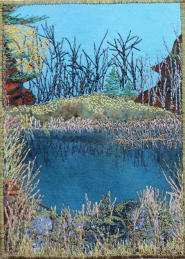 late fall pond 5x7""