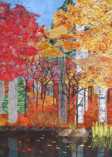 "fall pond 14x16"""