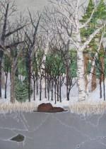 "winter pond 14x16"""