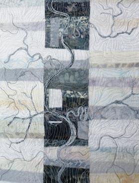 "river abstract 6 - single band 9x12"""