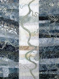 "river abstract 7 - single band 9x12"""