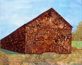 tobacco barn, early fall 8x10""