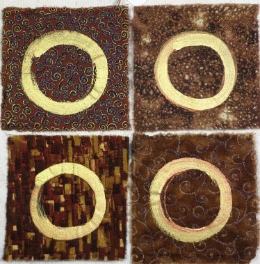 four circles on brown