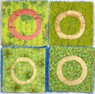 four circles on green