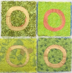 four more circles on green