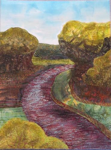 river bend mixed media