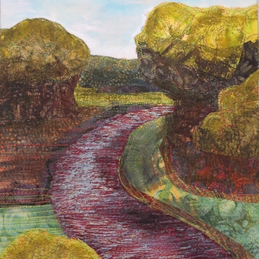 river bend mixed media